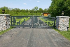 Old Stone Pet Lodge Gate