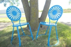 Mendota Blue Terrace Chairs