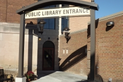Mineral Point Library Sign